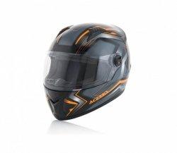 Acerbis Kask Full Face FS-807 czarno-pomarańczowy