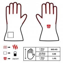 GLOVII, ogrzewane rękawice z baterią i ładowarką