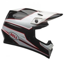 BELL MX-9 MIPS STRYKER BLACK/WHITE KASK MOTOCROSS