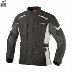 BUSE Kurtka motocyklowa Lago II czarno-jasno szara