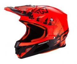 SCORPION VX-21 AIR MUDIRT BK-NEON RED Kask motocrossowy
