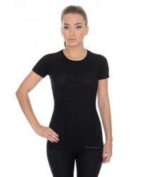 BRUBECK koszulka ACTIVE WOOL damska czarny