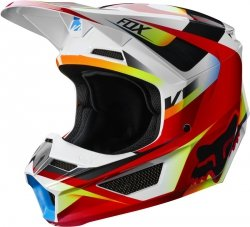 KASK OFF-ROAD FOX JUNIOR V-1 MOTIF RED/WHITE