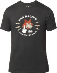 FOX T-SHIRT  CHEERFUL DESPAIR PREM BLACK VINTAGE