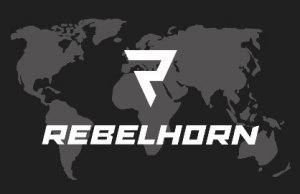 REBELHORN ODZNAKA NA RZEP MAPA BLACK 50X80MM