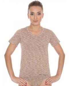 Brubeck SS11570 Koszulka damska z krótkim rękawem FUSION beżowy