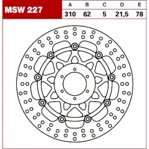 TRW Tarcza hamulcowa MSW227 HONDA CBR 900 RR Fireb
