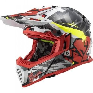 KASK LS2 MX437 FAST EVO CRUSHER BLACK RED