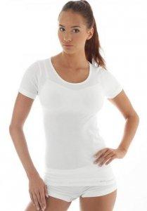 Brubeck SS11020 Koszulka damska z krótkim rękawem COMFORT WOOL kremowy