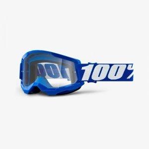 100 PROCENT GOGLE STRATA 2 BLUE CLEAR NIEBIESKI
