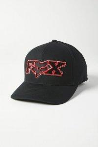 FOX CZAPKA Z DASZKIEM ELLIPSOID FLEXFIT BLACK/RED