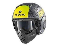 SHARK Kask otwarty DRAK TRIBUTE RM cza/mat/szary/ż