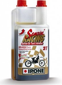 IPONE SAMURAI RACING olej do mieszanki 1 L (TRUSKAWKA)