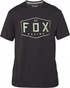 FOX T-SHIRT CREST TECH BLACK/GREEN