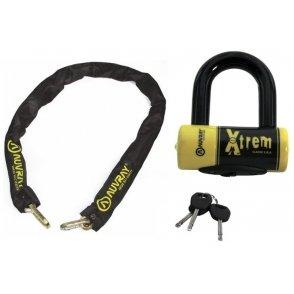 AUVRAY Zestaw łańcuch 120cm z kłódką XTREM MIN