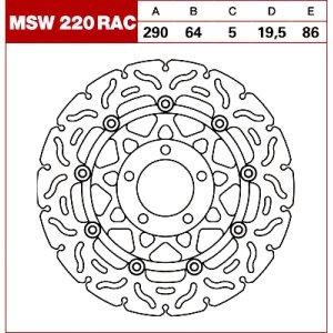TRW Tarcza hamulcowa MSW220RAC SUZUKI RGV 250 GSF