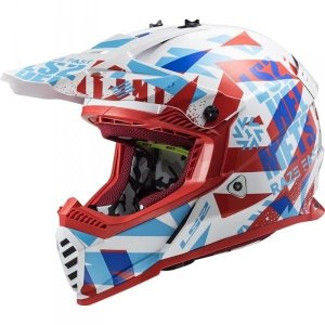 KASK LS2 MX437 FAST EVO FUNKY RED WHITE