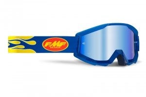 FMF GOGLE POWERCORE FLAME NAVY SZYBA MIRROR BLUE