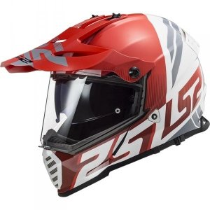 KASK LS2 MX436 PIONEER EVO EVOLVE RED WHITE