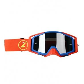 LAZER Goggle - Race Style Mirror Blue - Red - Red
