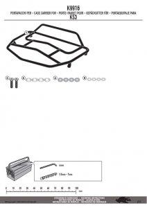 KAPPA K9916 BAGAŻNIK NA KUFER K53N