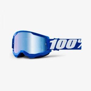100 PROCENT GOGLE MODEL STRATA 2 BLUE  MIRROR BLUE