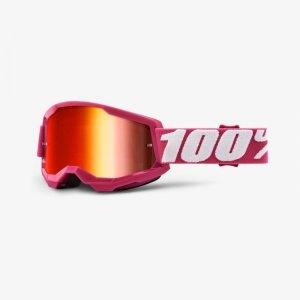 100 PROCENT GOGLE MODEL STRATA 2 FLETCH MIRROR RED