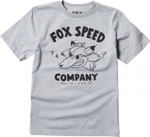 FOX T-SHIRT JUNIOR BOMBER LIGHT HEATHER GREY