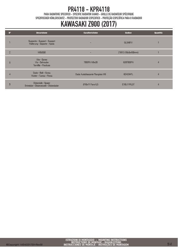 GIVI PR4118 OSŁONA CHŁODNICY KAWASAKI Z 900 (17)
