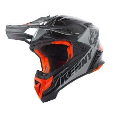 KENNY KASK OFF-ROAD TROPHY BLACK ORANGE 2019