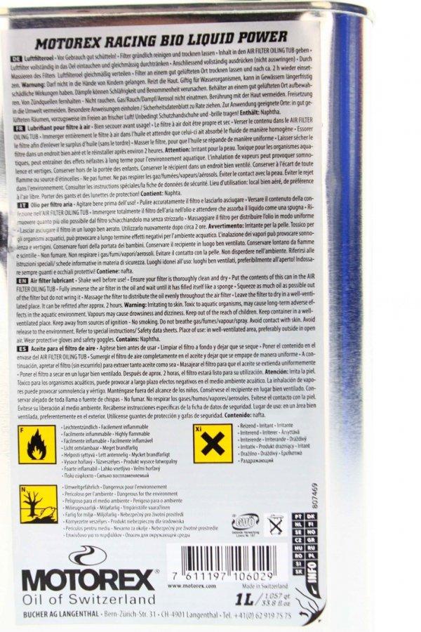 Motorex Racing Air Filter Oil Bio 1L