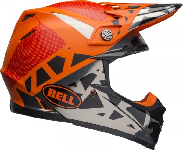 BELL KASK OFF-ROAD MOTO-9 MIPS TREMOR BLACK/OR/CHR