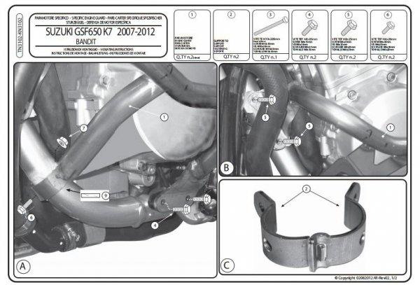 Kappa KN3102 Gmole Suzuki GSF 650 Bandit