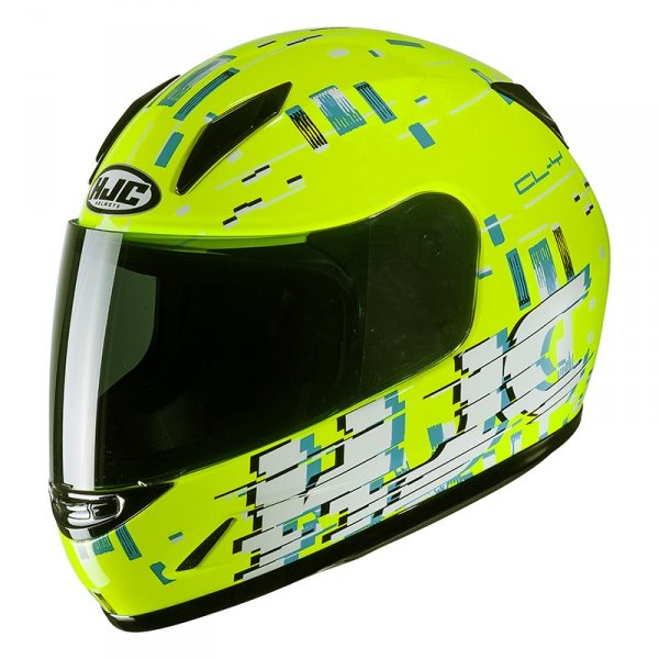 HJC KASK INTEGRALNY JUNIOR CL-Y GARAM YELLOW/BLUE