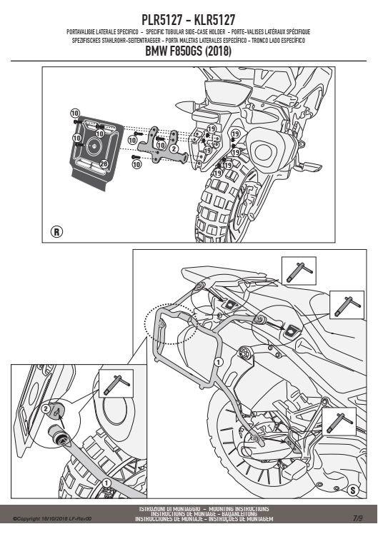 KAPPA KLR5127 STELAŻ KUFRÓW BOCZNYCH MONOKEY BMW F 750GS
