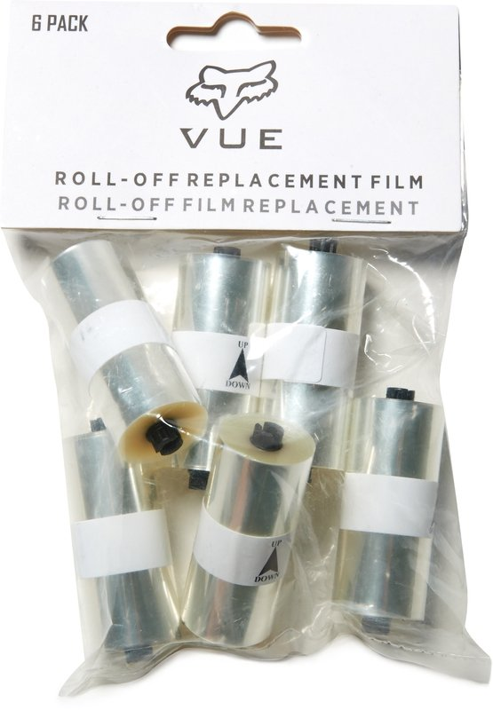 FOX ZESTAW ROLEK ROLL-OFF GOGLE  VUE 6 PACK CLEAR