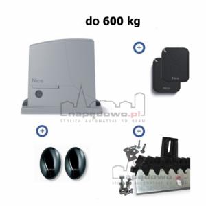 NICE ROX 600 ERA FLOR - zestaw automatyki do bram przesuwnych