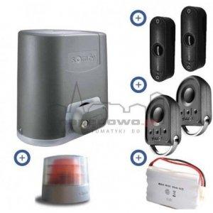 Zestaw Somfy Elixo 500 3S io 24V Comfort Pack (2 piloty 4-kanałowe Keygo io, lampa z anteną, fotokomórki, akumulator)