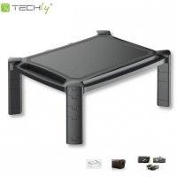 Podstawka pod monitor Techly do 32, plastikowa, czarna