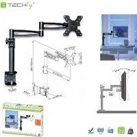 Uchwyt biurkowy Techly LCD/LED 13-27 czarny