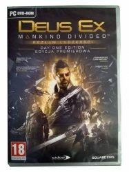 Gra DEUS EX: ROZŁAM LUDZKOŚCI Edycja Premierowa  PC