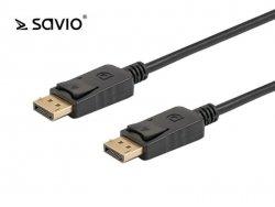 Kabel DisplayPort v1.2 Savio CL-135 (M/M) 1m czarny