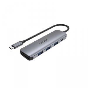 Hub USB-C Unitek H1107C 3x USB 3.1 Gen 1, PD 100W, SD/microSD