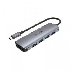 Hub USB-C Unitek H1107F 3x USB 3.1 Gen 1, HDMI, SD/microSD