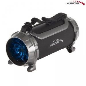 Głośnik bazooka, bluetooth Audiocore AC890 FM, karta microSD, czarny moc 100W 2000mAh