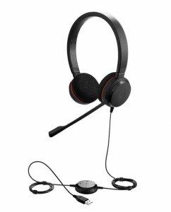 Słuchawki przewodowe z mikrofonem Jabra Evolve 20 MS Stereo, USB-A czarne