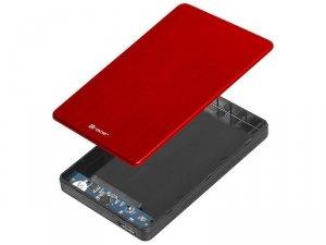 Obudowa na dysk Tracer USB 3.0 HDD/SSD 2.5'' SATA 724 AL czerwona