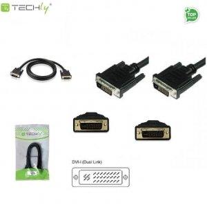 Kabel DVI-I/DVI-I M/M 24+5 Dual Link Techly DVI-8900 1,8m ICOC