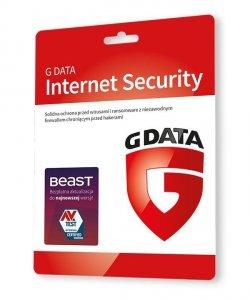 G DATA INTERNET SECURITY 2PC 1 ROK KARTA-KLUCZ