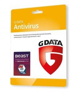 G DATA Antivirus 1PC 2lata karta-klucz